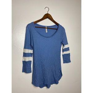 4/$25 | My Beloved Blue Quarter Long Sleeve Top